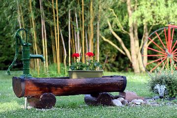 Schüttung eines Brunnens